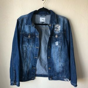 ymi distressed jean jacket